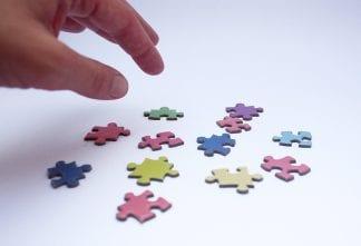1000 piece gradient colour puzzle