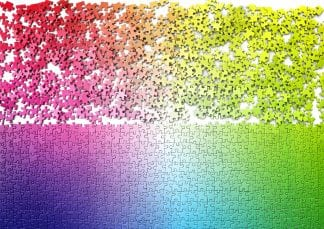 The 1000-piece gradient jigsaw from Cloudberries