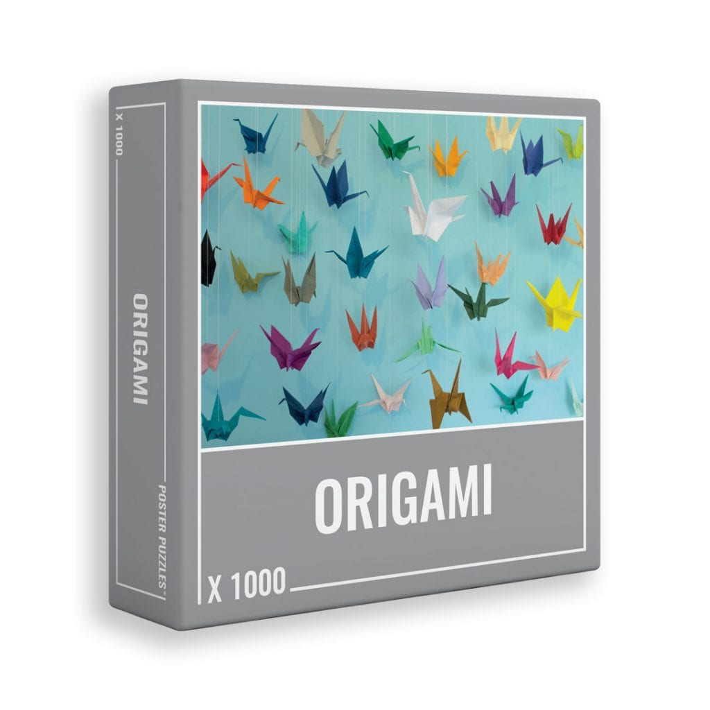 Origami is a 1000-piece jigsaw puzzle for grown ups