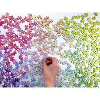 This colourful 1000 piece jigsaw puzzle features nothing but coloured pieces