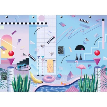 Poolside is a 1000-piece puzzle for adults with a cool eighties design