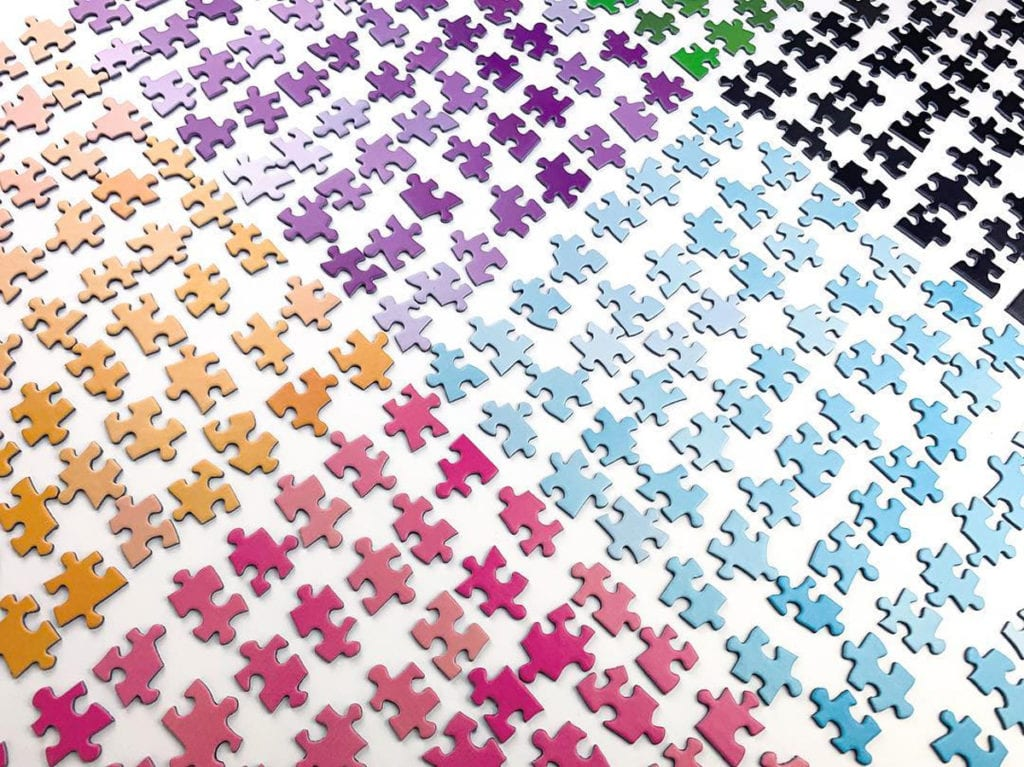 Sorting your puzzle pieces early can save you a lot of time when it comes to putting together a jigsaw puzzle