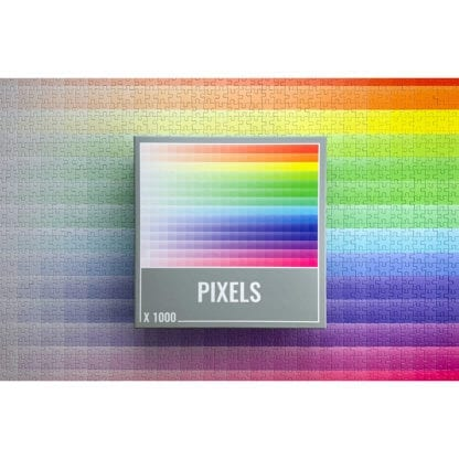 Pixels isa beautiful 1000-piece gradient puzzle from Cloudberries