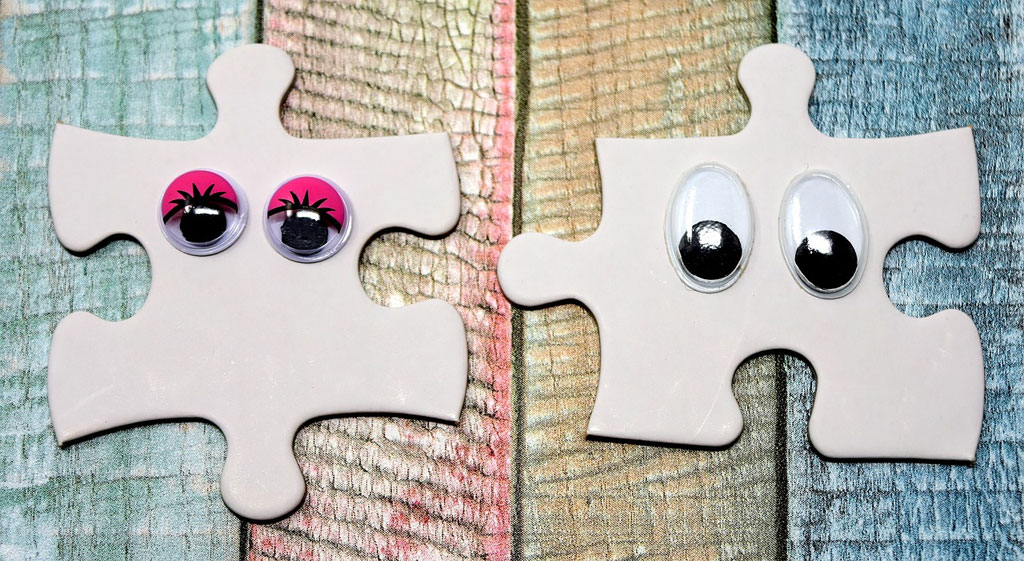 Some stock photos feature jigsaw puzzles