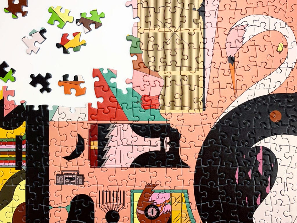 quirky, surreal puzzle design called DOODLE by Cloudberries