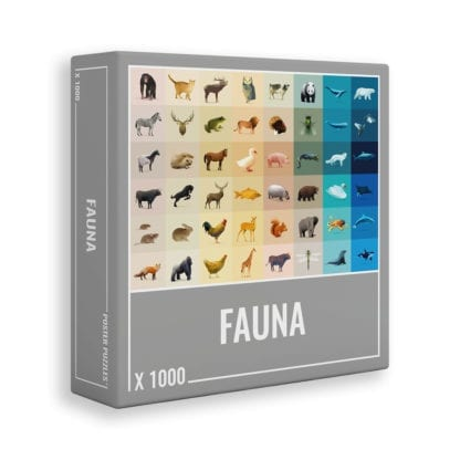 Fauna is a fun, colourful animal puzzle for adults