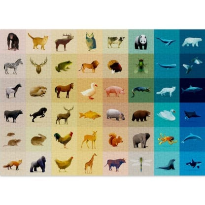 Fauna is a fun 1000 piece puzzle for adults