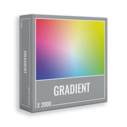 The 2000 piece Gradient puzzle from Cloudberries