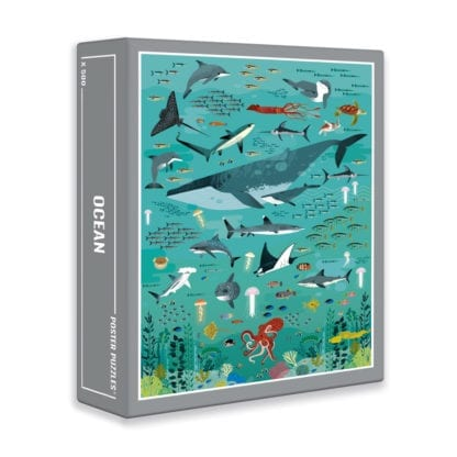 Ocean 500-piece puzzle is a beautiful jigsaw from Clouberries designed for adults