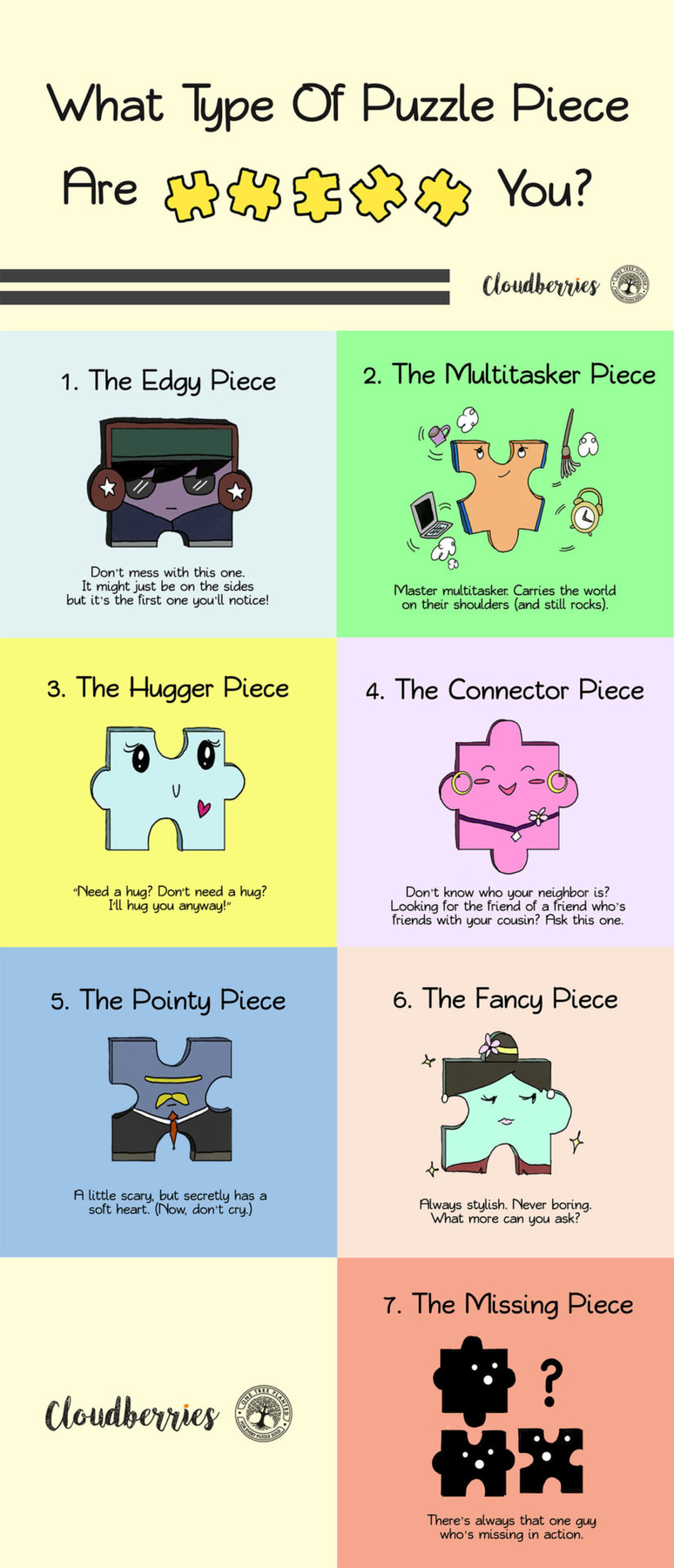 What kind of puzzle piece are you?