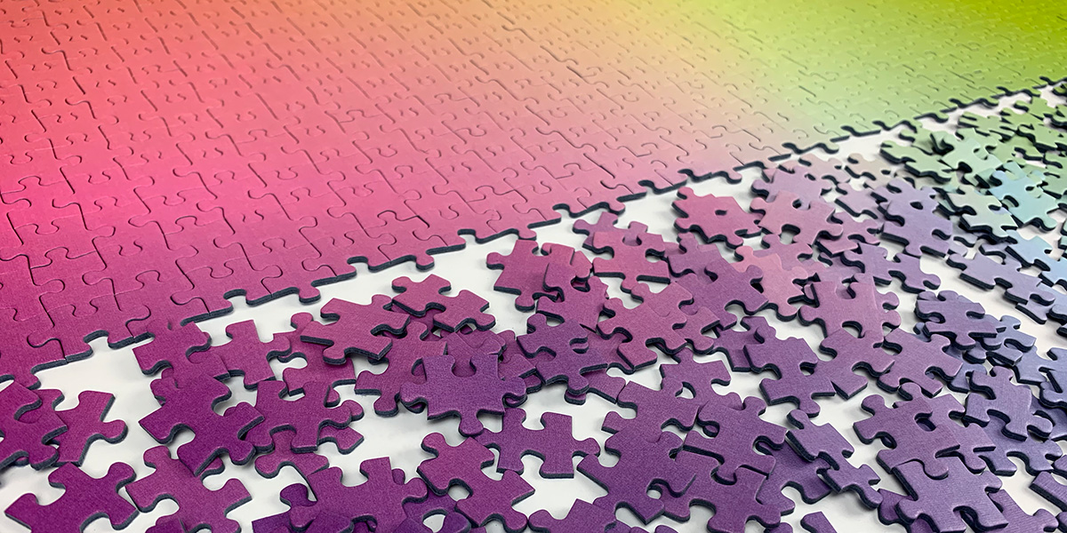 Gradient puzzles by Cloudberries