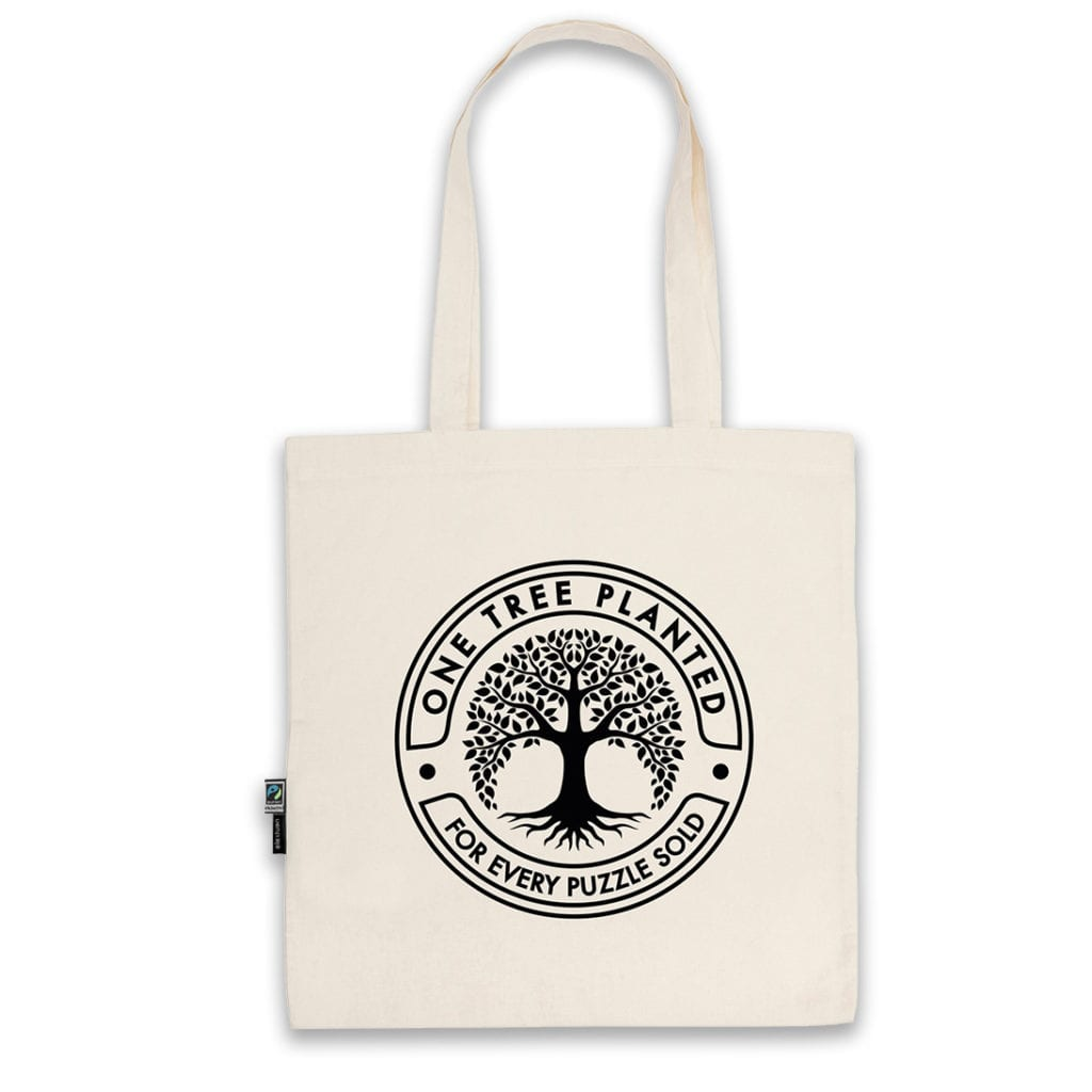 One tree planted cotton bag by Cloudberries is a great gift for puzzler