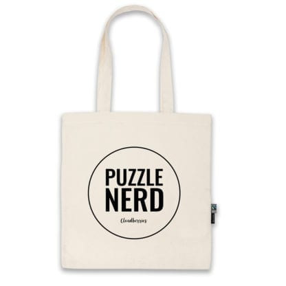 Organic cotton Puzzle Nerd bag by Cloudberries