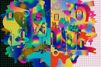 Chromatic is a challenging 1000-piece puzzle for adults with a trippy design