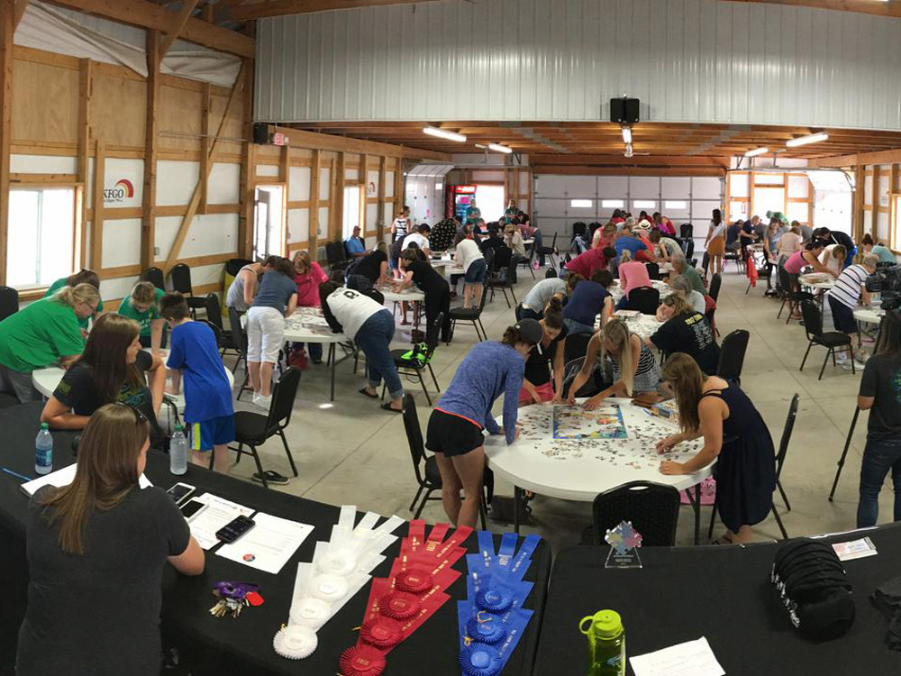 The new North Dakota Jigsaw Puzzle Championship was a success before it started!