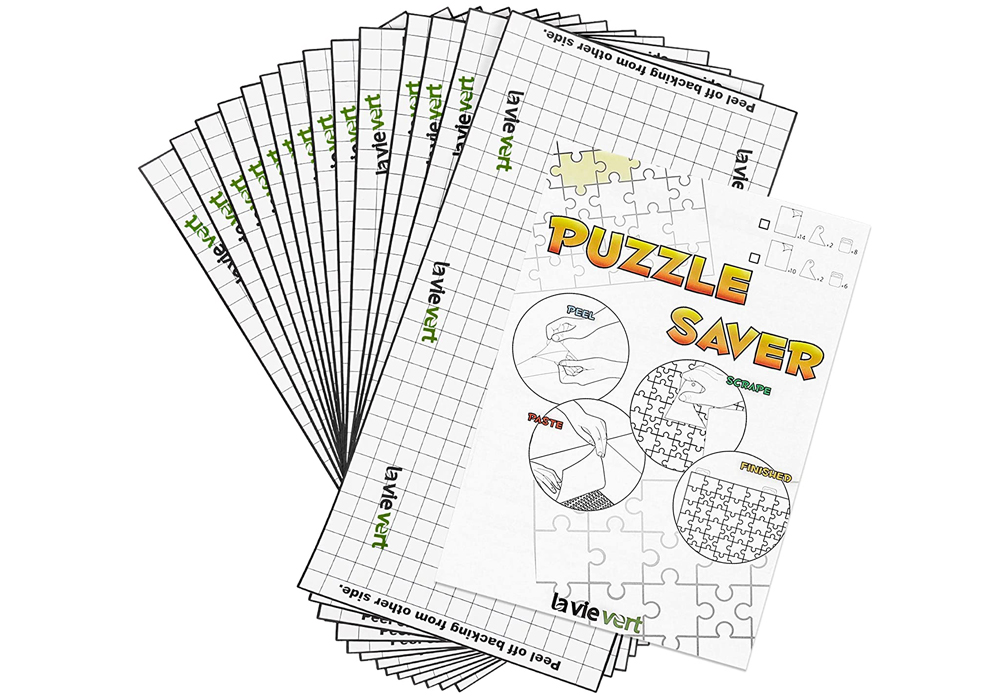 Puzzle stickers make a great alternative to glue when preserving jigsaw puzzles