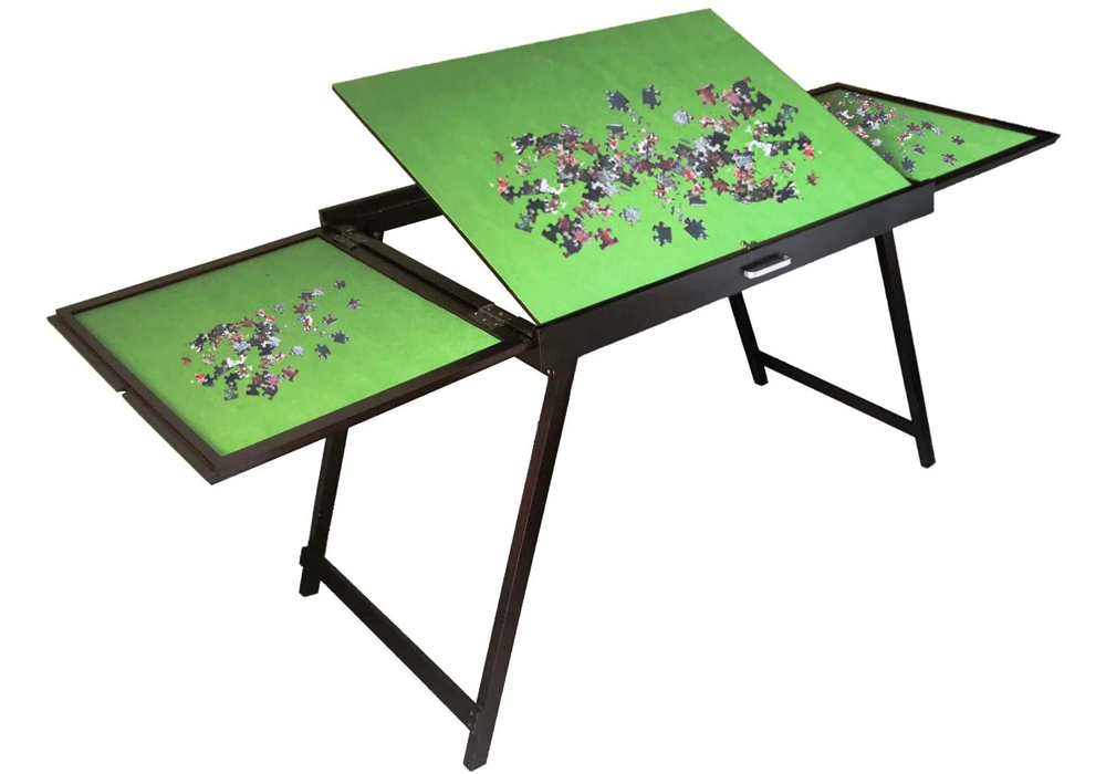 Make puzzling more comfortable with a tilting puzzle table