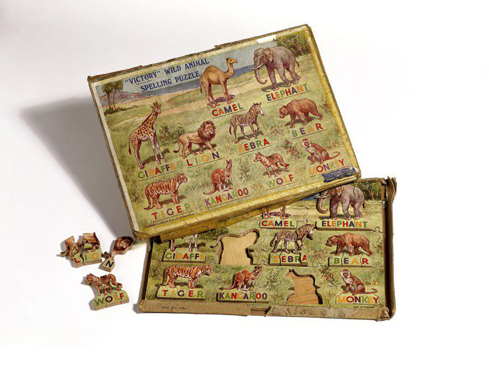 Antique jigsaw puzzle at the Victoria and Albert Museum