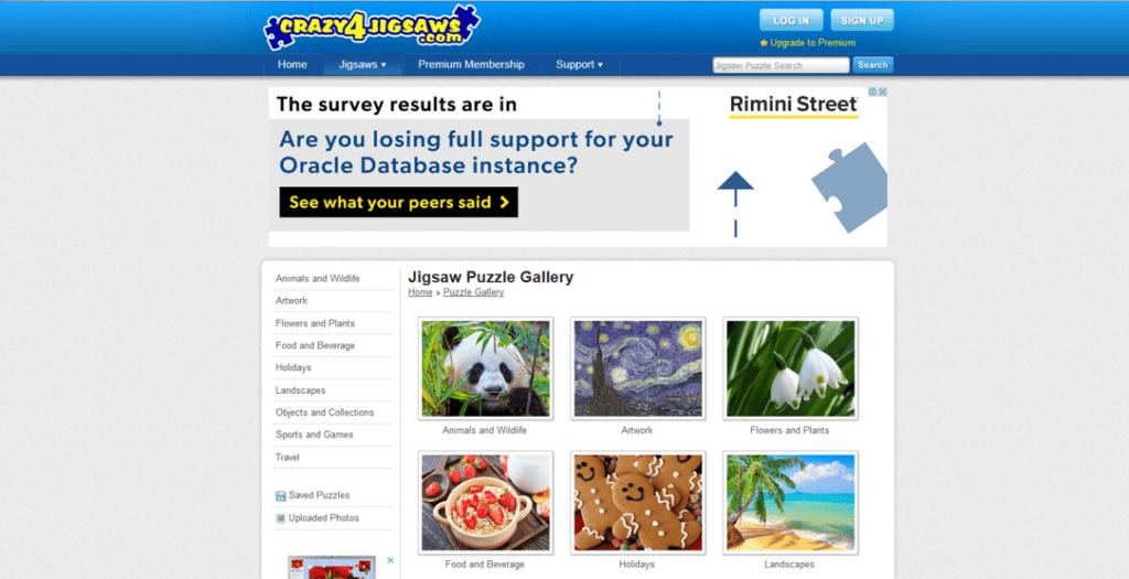 crazy 4 jigsaws website