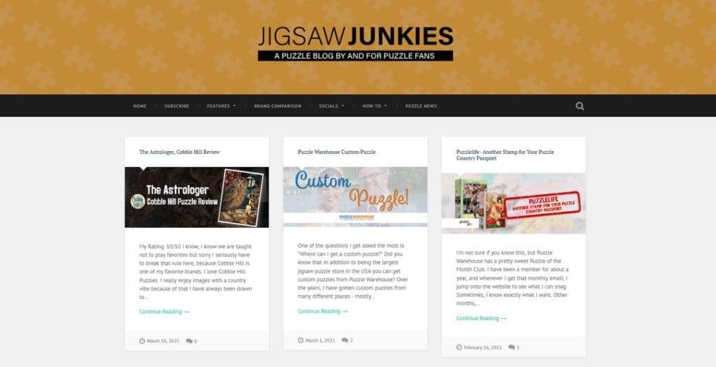 jigsaw junkies website