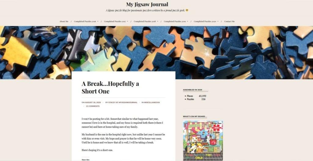 my jigsaw journal website